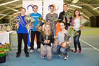 March 15, 2015, Netherlands, Rotterdam, TC Victoria, NOJK, All winners<br /> Photo: Tennisimages/Henk Koster
