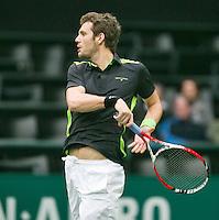10-02-14, Netherlands,Rotterdam,Ahoy, ABNAMROWTT,, ,  Paul-Henri Mathieu(FRA) <br /> Photo:Tennisimages/Henk Koster