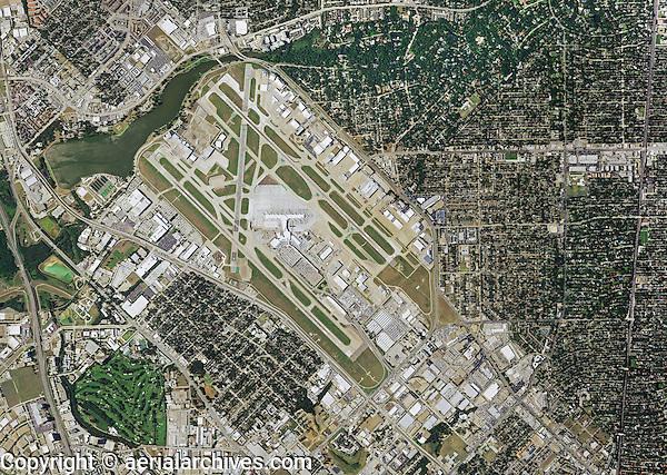 aerial photo map of Texas Love Field airport, Dallas, Texas, 2014