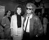 Montreal (Qc) CANADA - Sept 28  1987 -Celine Dion and  Luc Plamondon at ADISQ 1987 special TV Broadcast
