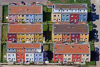 Reihenhaeuser im Hochschulstadtteil Luebeckl: EUROPA, DEUTSCHLAND, SCHLESWIG- HOLSTEIN, LUEBECK (GERMANY), 15.05.2008: Reihenhaeuser im Hochschulstadtteil Luebeck,