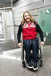 Caleb Brousseau, Sochi 2014.<br /> Team Canada arrives at the airport in Sochi for the Sochi 2014 Paralympic Winter // Équipe Canada arrive à l'aéroport de Sotchi pour Sochi 2014 Jeux paralympiques d'hiver. 03/03/2014.