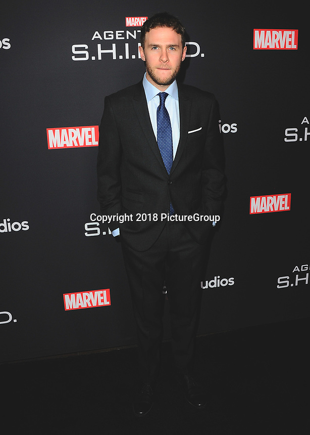 """HOLLYWOOD - FEBRUARY 24:   Iain De Caestecker at 100th Episode Celebration of ABC's """"Marvel's Agents of S.H.I.E.L.D.""""  at OHM Nightclub on February 24, 2018 in Hollywood, California.(Photo by Scott Kirkland/PictureGroup)"""