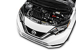Car Stock 2017 Nissan Versa-Note S-Plus 5 Door Hatchback Engine  high angle detail view