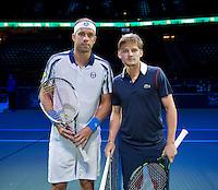 Februari 09, 2015, Netherlands, Rotterdam, Ahoy, ABN AMRO World Tennis Tournament, Gilles Muller (LUX) - David Goffin (BEL)<br /> Photo: Tennisimages/Henk Koster