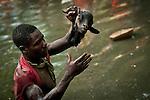 HAITI - RELIGION - Voodoo believers during ceremonies