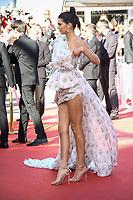 Kendall Jenner pose sur le tapis rouge à l'occassion de la montée des marches pour le film 120 BATTEMENtS PAR MINUTE pendant le soixante-dixième (70ème) Festival du Film à Cannes, Palais des Festivals et des Congres, Cannes, Sud de la France, samedi 20 mai 2017. Philippe FARJON / VISUAL Press Agency