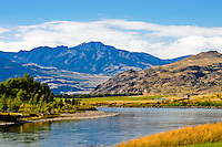 Paradise Valley and the Yellowstone River in Montana.