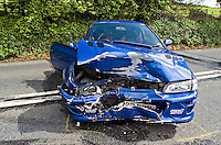 Remains of a Subaru Impreza the car was stolen and used by joyriders..©shoutpictures.com..john@shoutpictures.com