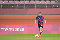 KASHIMA, JAPAN - AUGUST 5: Kelley O'Hara #5 of the United States during a game between Australia and USWNT at Kashima Soccer Stadium on August 5, 2021 in Kashima, Japan.