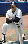 BRONX, NY - 1977:  Reggie Jackson of the New York Yankees poses for a portrait in 1977 at Yankee Stadium in Bronx, New York.  (Photo by Rich Pilling)