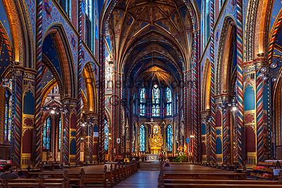 Deutschland, Nordrhein-Westfalen, Kevelaer: St. Marien Basilika - Altarraum   Germany, Northrhine-Westphalia, Kevelaer: Chapel Square and St Mary Basilica - interior, altar