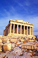 Ancient Greece Parthenon on Acropolis in Athens Greece