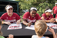 STANFORD, CA --March 31, 2018. <br /> The Stanford Cardinal women's softball team loses to the University of Washington Huskies at the Smith Family Stadium 9-0.