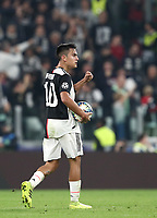 Football Soccer: UEFA Champions League -Group Stage-  Group D - Juventus vs Lokomotiv Moskva, Allianz Stadium. Turin, Italy, October 22, 2019.<br /> Juventus' Paulo Dybala celebrates after scoring during the Uefa Champions League football soccer match between Juventus and Lokomotiv Moskva at Allianz Stadium in Turin, on October 22, 2019.<br /> UPDATE IMAGES PRESS