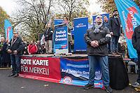 """Bis zu 2500 Anhaenger der Rechtspartei """"Alternative fuer Deutschland"""" (AfD) versammelten sich am Samstag den 7. November 2015 in Berlin zu einer Demonstration. Sie protestierten gegen die Fluechtlingspolitik der Bundesregierung und forderten """"Merkel muss weg"""". Die Demonstration sollte der Abschluss einer sog. """"Herbstoffensive"""" sein, zu der urspruenglich 10.000 Teilnehmer angekuendigt waren.<br /> Mehrere tausend Menschen protestierten gegen den Aufmarsch der Rechten und versuchten an verschiedenen Stellen die Route zu blockieren. Gruppen von AfD-Anhaengern wurden von der Polizei durch Einsatz von Pfefferspray, Schlaege und Tritte durch Gegendemonstranten, die sich an zugewiesenen Plaetzen aufhielten, zur rechten Demonstration gebracht. Zum Teil wurden sie von Neonazis-Hooligans dabei angefeuert. Dabei kam es zu Verletzten, mehrere Gegendemonstranten wurden festgenommen.<br /> Im Bild: Beatrix Amelie Ehrengard Eilika von Storch, stellv. AfD-Vorsitzende.<br /> 7.11.2015, Berlin<br /> Copyright: Christian-Ditsch.de<br /> [Inhaltsveraendernde Manipulation des Fotos nur nach ausdruecklicher Genehmigung des Fotografen. Vereinbarungen ueber Abtretung von Persoenlichkeitsrechten/Model Release der abgebildeten Person/Personen liegen nicht vor. NO MODEL RELEASE! Nur fuer Redaktionelle Zwecke. Don't publish without copyright Christian-Ditsch.de, Veroeffentlichung nur mit Fotografennennung, sowie gegen Honorar, MwSt. und Beleg. Konto: I N G - D i B a, IBAN DE58500105175400192269, BIC INGDDEFFXXX, Kontakt: post@christian-ditsch.de<br /> Bei der Bearbeitung der Dateiinformationen darf die Urheberkennzeichnung in den EXIF- und  IPTC-Daten nicht entfernt werden, diese sind in digitalen Medien nach §95c UrhG rechtlich geschuetzt. Der Urhebervermerk wird gemaess §13 UrhG verlangt.]"""