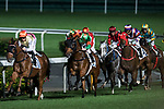 Jockey # 10 Chad Schofield riding Balay Balay (L) leading race 3 during Hong Kong Racing at Happy Valley Race Course on November 29, 2017 in Hong Kong, Hong Kong. Photo by Marcio Rodrigo Machado / Power Sport Images