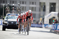 last kilometer for Team Lotto-Soudal<br /> <br /> Elite Men's Team Time Trial<br /> UCI Road World Championships Richmond 2015 / USA