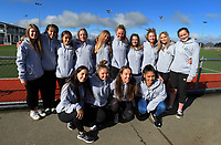 The Counties Manukau team poses for a group photo during the National Women's Association Under-18 Hockey Tournament at Twin Turfs in Clareville, New Zealand on Saturday, 15 July 2017. Photo: Dave Lintott / lintottphoto.co.nz