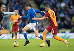 St Johnstone v Galatasaray…12.08.21  McDiarmid Park Europa League Qualifier<br />Murray Davidson and Berkan Kutlu<br />Picture by Graeme Hart.<br />Copyright Perthshire Picture Agency<br />Tel: 01738 623350  Mobile: 07990 594431