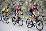 The peloton including Wout Poels (NED) leading team mates Geraint Thomas (WAL) and Yellow Jersey Egan Bernal (COL) Team Ineos during Stage 20 of the 2019 Tour de France running 59.5km from Albertville to Val Thorens, France. 27th July 2019.<br /> Picture: ASO/Pauline Ballet | Cyclefile<br /> All photos usage must carry mandatory copyright credit (© Cyclefile | ASO/Pauline Ballet)