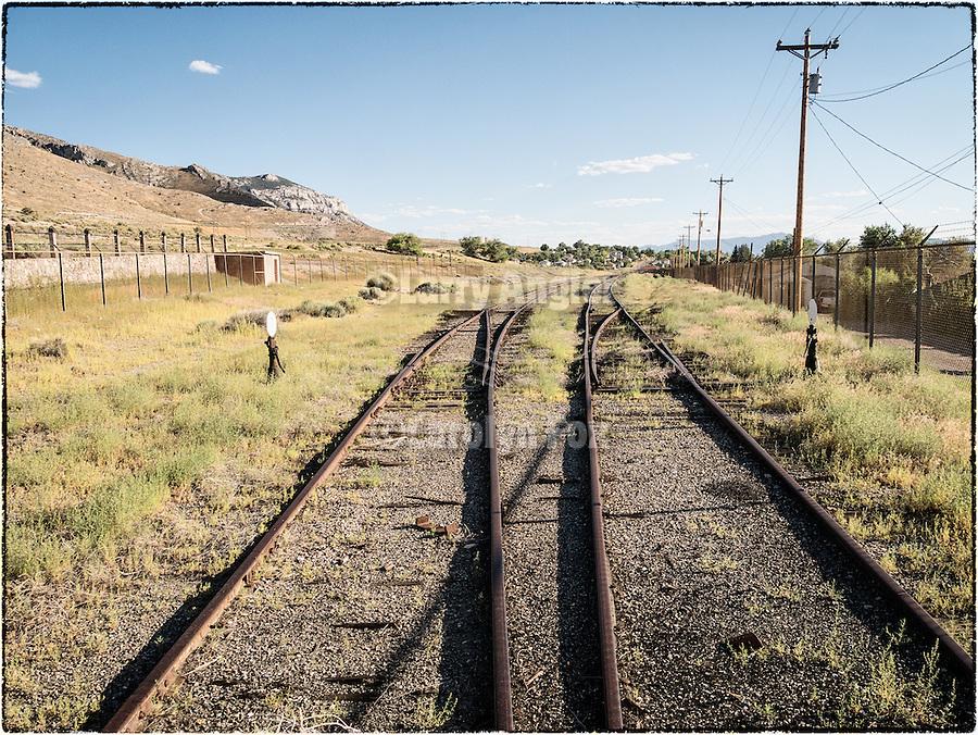 Nevada Northern rail yard at the train depot, McGill, Nev.