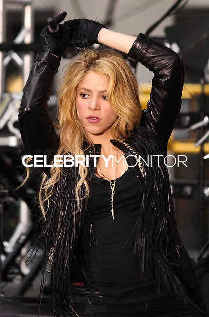 """NEW YORK, NY, USA - MARCH 26: Shakira Performs On NBC's """"Today"""" at Rockefeller Plaza on March 26, 2014 in New York City, New York, United States. (Photo by Jeffery Duran/Celebrity Monitor)"""