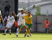 Pictured: Ashley Williams of Swansea City in action  <br /> Re: Coca Cola Championship, Swansea City FC v Norwich City FC at the Liberty Stadium Swansea, south Wales. Saturday 11 April 2009.<br /> Picture by D Legakis Photography / Athena Picture Agency, Swansea 07815441513
