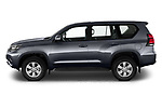 Car Driver side profile view of a 2021 Toyota Land-Cruiser-150 Country 5 Door SUV Side View