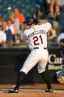 Lou Montanez (21) of the Bowie Baysox at bat at Prince Georges Stadium in Bowie, MD, Tuesday June 17, 2008.