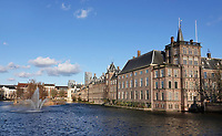 Nederland Den Haag -  maart 2021.  Regeringsgebouwen aan de Hofvijver.    Foto ANP / Hollandse Hoogte /  Berlinda van Dam