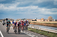race leaders needing to form an echelon once again with 20km to go<br /> <br /> 44th AG Driedaagse Brugge-De Panne 2020 (1.UWT / BEL)<br /> 1 day race from Brugge to De Panne (203km shortened to 188km due to the windy weather conditions) <br /> <br /> ©kramon