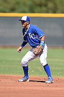 Kansas City Royals second baseman Jose Martinez (39) during an Instructional League game against the San Diego Padres on October 2, 2014 at Surprise Stadium Training Complex in Surprise, Arizona.  (Mike Janes/Four Seam Images)
