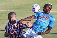Victor Osimhen of SSC Napoli in action<br /> during the friendly football match between SSC Napoli and SS Teramo Calcio 1913 at stadio Patini in Castel di Sangro, Italy, September 04, 2020. <br /> Photo Cesare Purini / Insidefoto