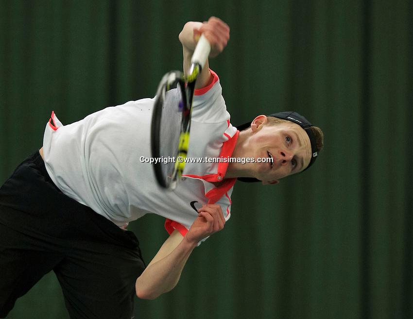 Rotterdam, The Netherlands, March 19, 2016,  TV Victoria, NOJK 14/18 years, Jesper de Jong (NED)<br /> Photo: Tennisimages/Henk Koster
