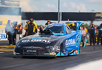 Jul 18, 2020; Clermont, Indiana, USA; NHRA funny car driver Paul Lee during qualifying for the Summernationals at Lucas Oil Raceway. Mandatory Credit: Mark J. Rebilas-USA TODAY Sports