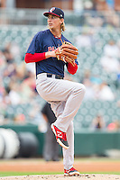 Henry Owens (37) of the Pawtucket Red Sox in action against the Charlotte Knights at BB&T Ballpark on August 10, 2014 in Charlotte, North Carolina.  The Red Sox defeated the Knights  6-4.  (Brian Westerholt/Four Seam Images)