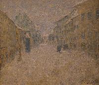 ActiveMuseum_0000074.jpg / Whirlpool of snow in Skofja Loka- Ivan Grohar (1905) - <br />06/06/2013  -   / 20th century<br />Active Museum / Le Pictorium