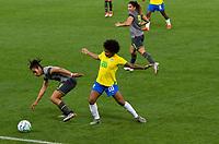 São Paulo (SP), 27/11/2020 - Brasil-Equador - Valéria do Brasil. Brasil e Equador em amistoso internacional, a partida realizada na Neo Química Arena em São Paulo, nesta sexta-feira (27), marca o retorno da Seleção Brasileira Feminina após oito meses sem jogos internacionais.