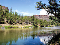 Summertime in the Crooked River Canyon. Central Oregon US.