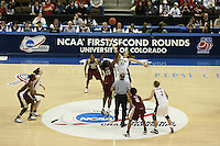 20 March 2006: Brooke Smith, Jillian Harmon, Krista Rappahahn during Stanford's 88-70 win over Florida State in the second round of the NCAA Women's Basketball championships at the Pepsi Center in Denver, CO.