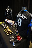 SAN JOSE, CA - JUNE 8: Chris Wondolowski memorabilia during a game between FC Dallas and San Jose Earthquakes at Avaya Stadium on June 8, 2019 in San Jose, California.