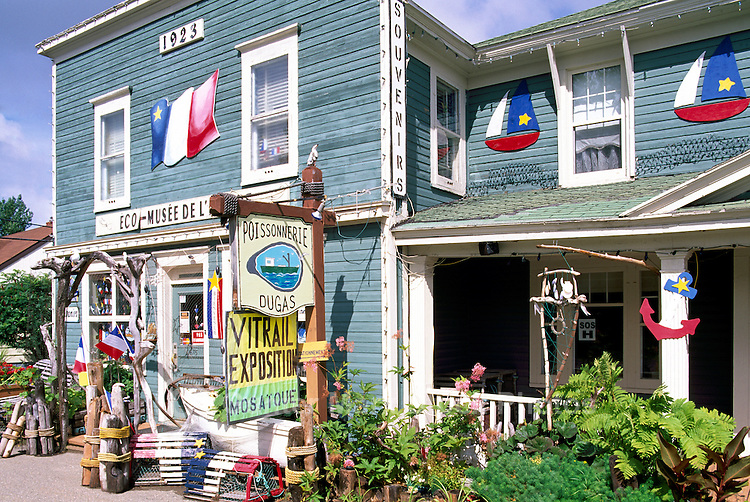 Bertrand, NB, New Brunswick, Canada - Museum / Shop decorated for the Annual Acadian Festival