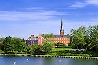 Historic Charles Carroll House and St Mary's Church, Annapolis, Maryland, USA