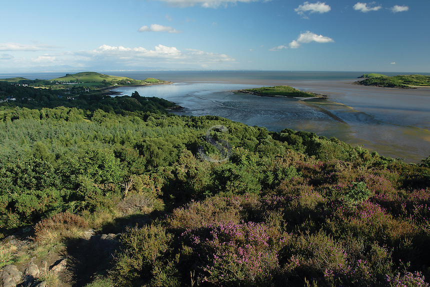 The Solway Firth, Rough Island, Hestan, Castle Point and Rockcliffe from The Muckle (Mark Hill), Dumfries and Galloway<br /> <br /> Copyright www.scottishhorizons.co.uk/Keith Fergus 2011 All Rights Reserved