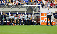 NASHVILLE, TENN - JULY 03: Gregg Berhalter and his USMNT bench during a 2019 CONCACAF Gold Cup Semifinal match between the United States and Jamaica at Nissan Stadium on July 03, 2019 in Nashville, Tennessee.