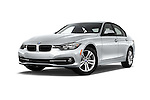 Stock pictures of low aggressive front three quarter view of 2016 BMW 3 Series 328i 4 Door Sedan Low Aggressive
