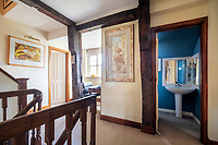 BNPS.co.uk (01202) 558833.<br /> Pic: CarterJonas/BNPS<br /> <br /> Pictured: Bathroom. <br /> <br /> The former family home of Lord of the Flies author William Golding has gone on sale for £1m.<br /> <br /> The Grade II Listed cottage on a green in Marlborough is said to have inspired some of the Nobel Prize winning writer's work.<br /> <br /> His parents Alec, a teacher, and Mildred, a suffragette, bought the house and moved there in 1905, when Mr Golding obtained a job at the town's grammar school.<br /> <br /> Sir William was born in 1911 and he and his brother lived in the property and its location influenced his writing. He wrote of the property: 'Our house was on the green, that close like square, tilted south'.