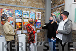 Exhibition: Members of the Ballybunion Active Retirement pointing out their own pictures at the launch of their exhibition at St. John's Arts Centre, Listowel on Saturday afternoon last, L-R: Brendan O'Regan, Patricia Buckley, Barbara Derbyshire & Bill Young.