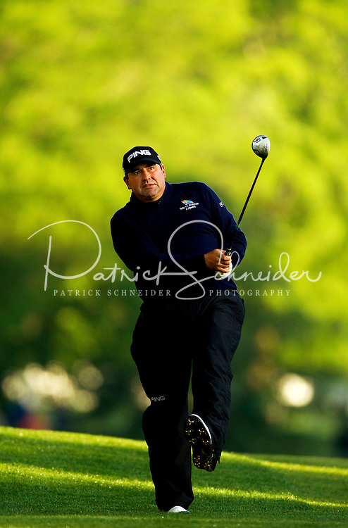 Angel Cabrera  during the first round of the Quail Hollow Championship at Quail Hollow Country Club on May 2, 2010 in Charlotte, North Carolina.  The event, formerly called the Wachovia Championship, is a top event on the PGA Tour, attracting such popular golf icons as Tiger Woods, Vijay Singh and Bubba Watson. Photo from the final round in the Quail Hollow Championship golf tournament at the Quail Hollow Club in Charlotte, N.C., Sunday , May 03, 2009..